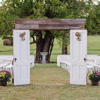 arbor, backdrop & entryway