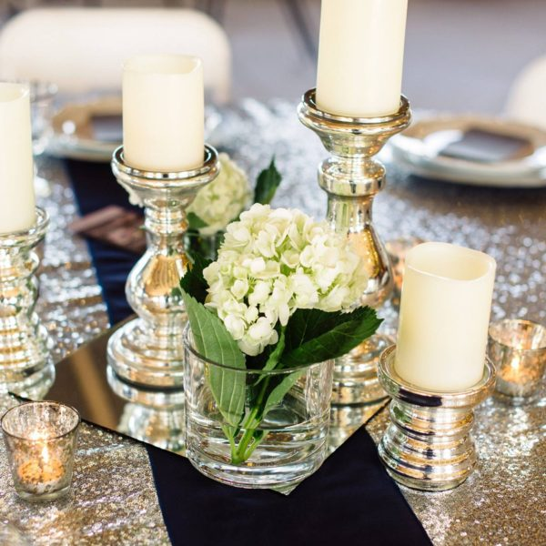 Candleholder - Silver Pillar