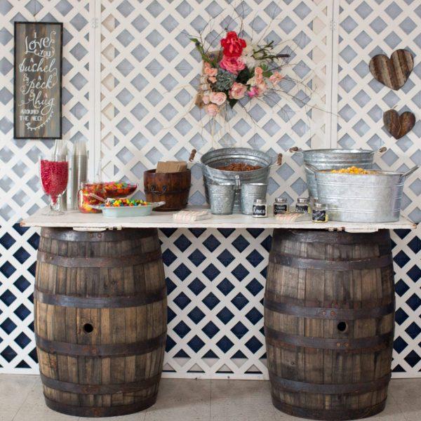 Table - Whiskey Barrel & Door