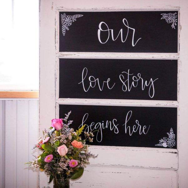 Door Table With Chalkboard Panels