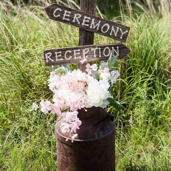 Sign - Ceremony & Reception Arrow