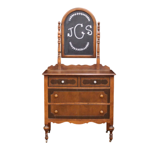 Dresser - Brown With Chalkboard
