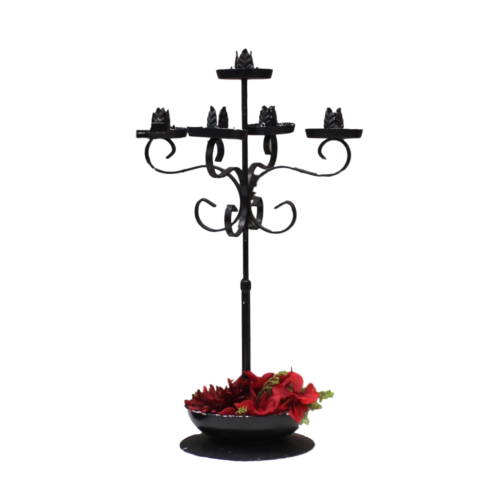 Candelabra - Black Rod Iron