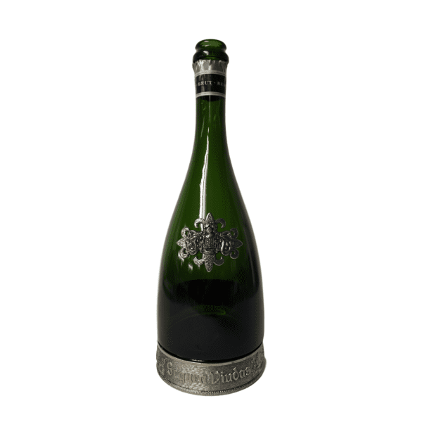 Champagne Bottle with Metal Accent
