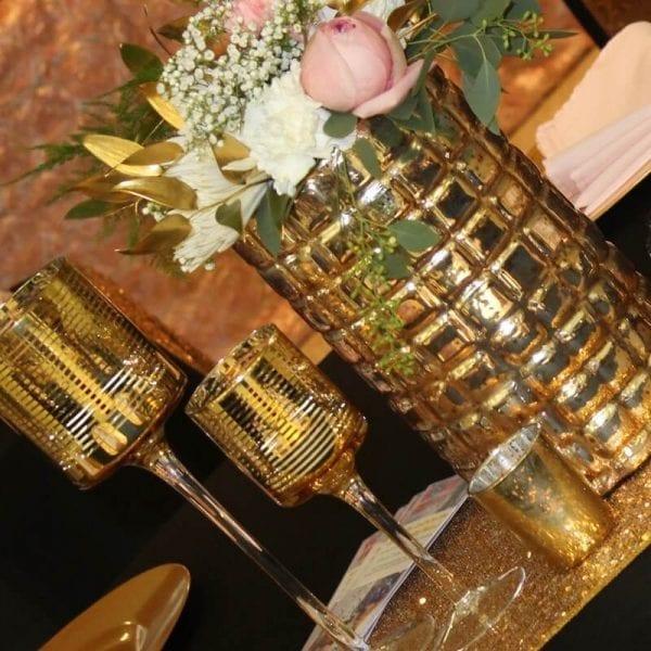Vase - Gold Waffle MD