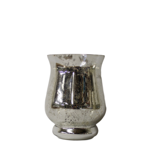Candleholder - Fluted Silver