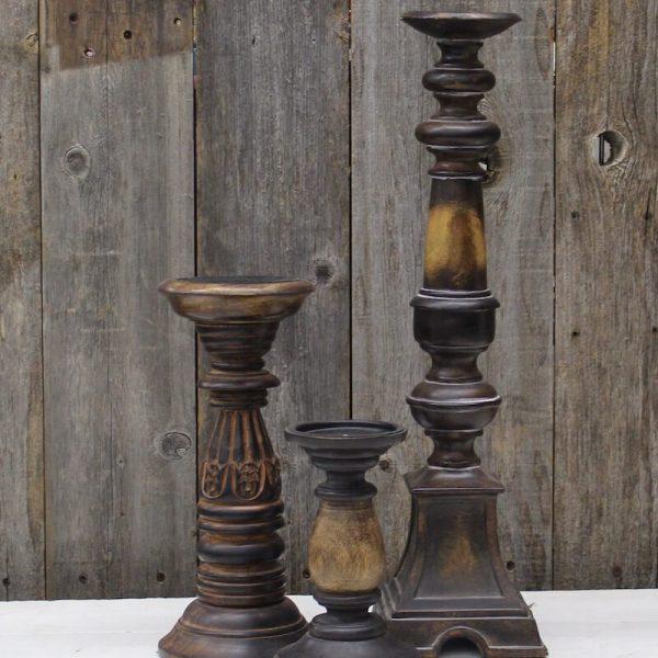Candleholder - Wooden Variety