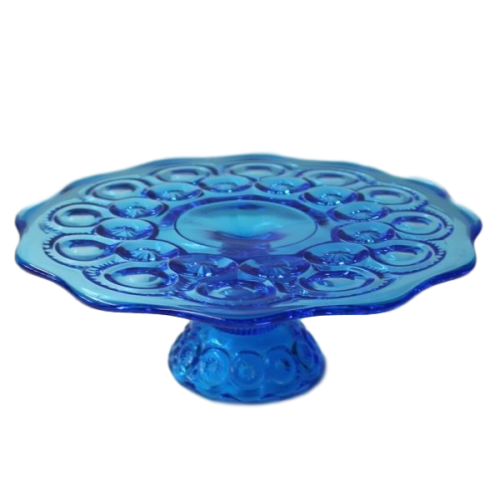 Cake Stand - Blue Glass
