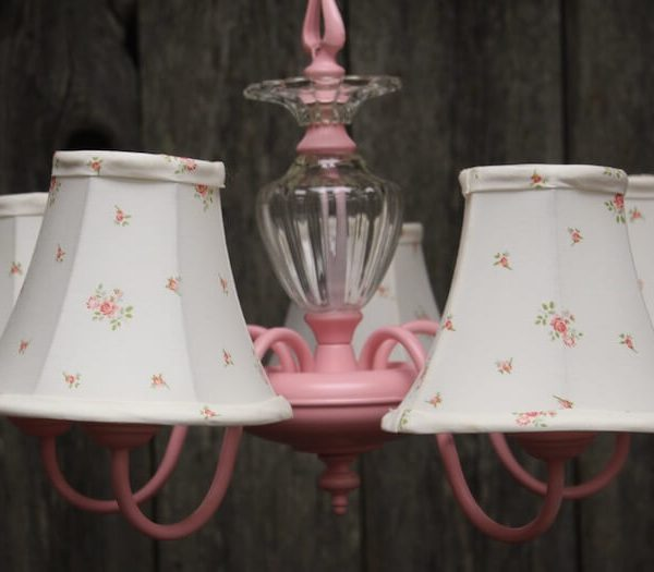 Tea Party Pink Chandelier