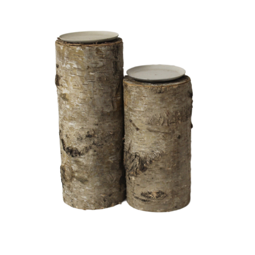 Candleholder - Birch Pillar