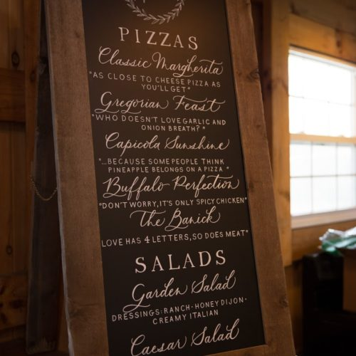 Rustic Menu Board