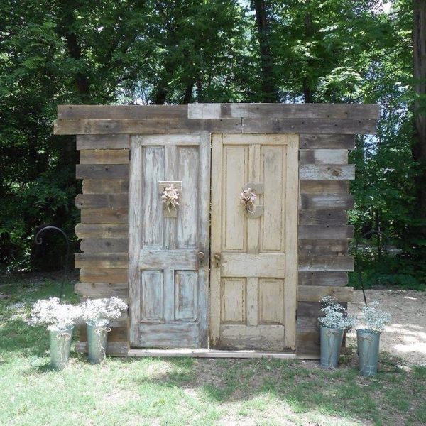 2 Door Swinging Entryway -Rustic