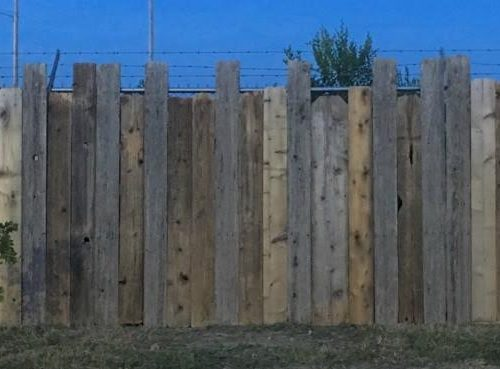 Rustic Tan Fence Backdrop