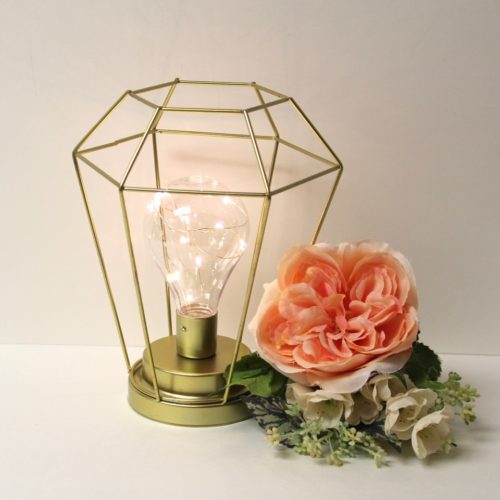 Geometric Gold Collection-Diamond Lamp