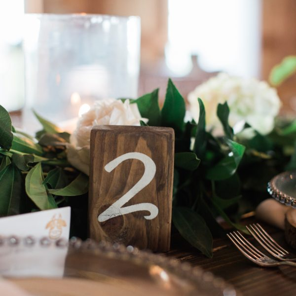 Table Number - Wood Block