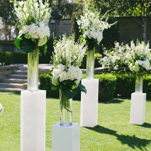 3 Pc. White Wooden Pillars