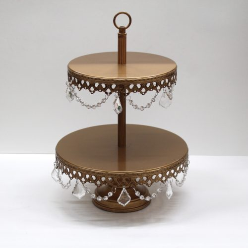 Morgan 2 Tiered Gold Cake Stand