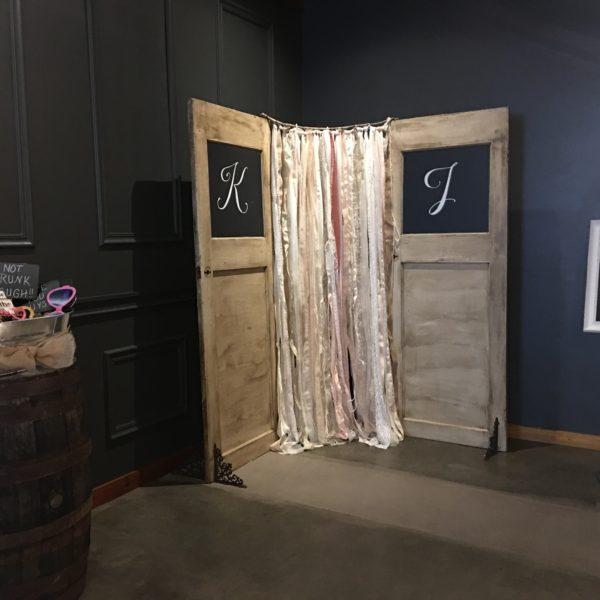 Chalkboard Door w/ Rag banner