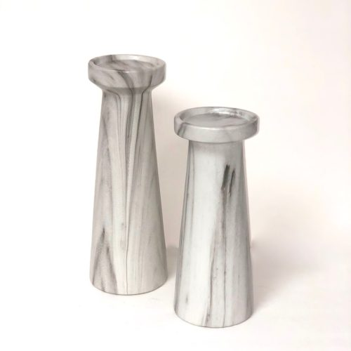 Marble Small Pillar Candlestick