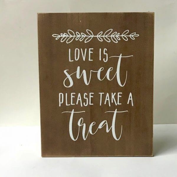 Sign - Love is Sweet Wood