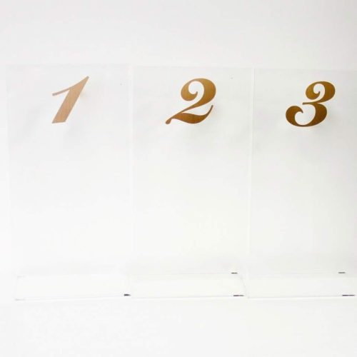 Acrylic Gold Table Numbers