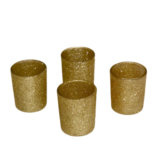 Votive Holder - Gold Glitter