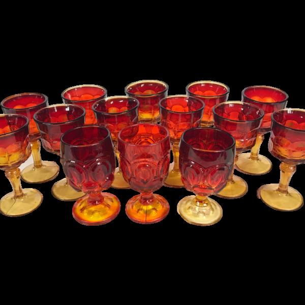 Goblet - Red/Orange Ombre